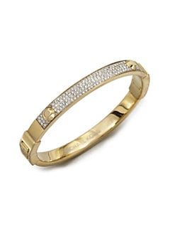 Michael Kors - Studded Pavé Bangle Bracelet/Goldtone