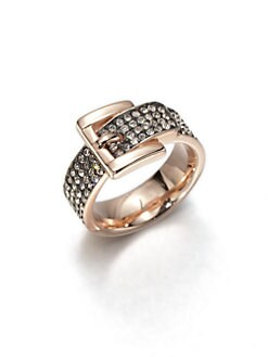 Michael Kors - Pavé Buckle Ring/Rose Goldtone