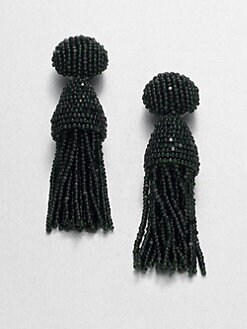 Oscar de la Renta - Short Tassel Clip-On Earrings