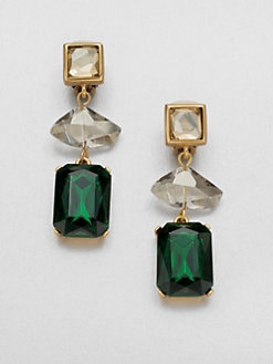 Oscar de la Renta - Faceted Clip-On Earrings