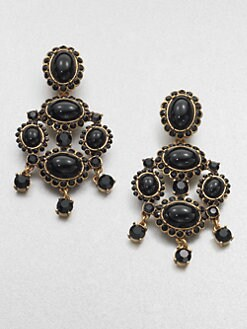 Oscar de la Renta - Cabochon Clip-On Chandelier Earrings