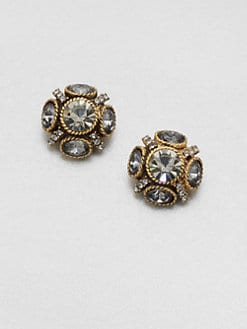 Oscar de la Renta - Faceted Cluster Stud Earrings