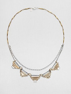 Bing Bang - Two-Tone Pyramid Necklace