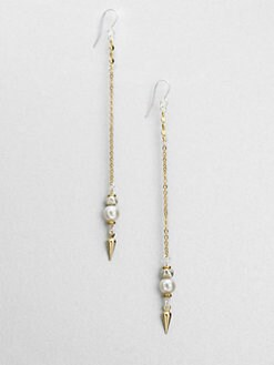 Bing Bang - Pearl & Pendulum Chain Earrings