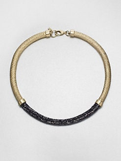 Orly Genger - Metal & Braided Rope Necklace