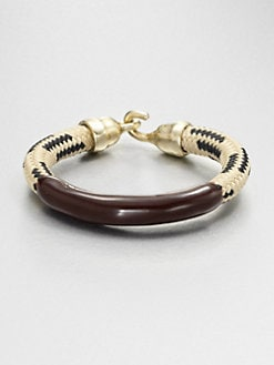 Orly Genger - Enamel & Rope Bracelet