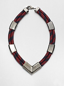 Orly Genger - Rope & Metal V Necklace
