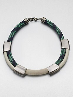 Orly Genger - Enamel Rope Collar Necklace/Gunmetal