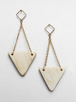 Kora - Pyramid Horn Drop Earrings