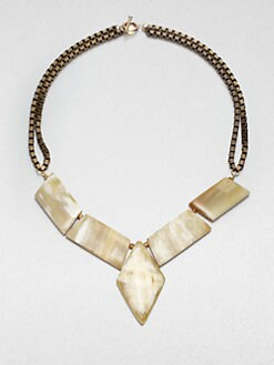 Kora - Deco-Inspired Horn Necklace