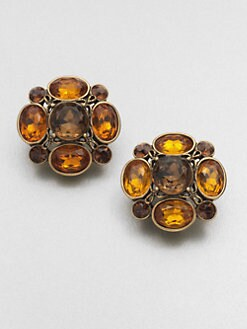 Oscar de la Renta - Faceted Clip-On Cluster Earrings