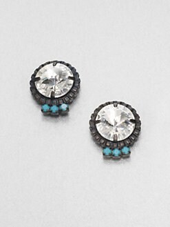 DANNIJO - Swarovski Crystal Button Earrings