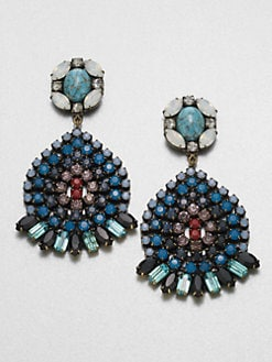 DANNIJO - Multicolored Swarovski Crystal Drop Earrings