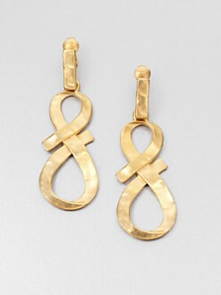 Kenneth Jay Lane - Twisted Bow Clip-On Drop Earrings
