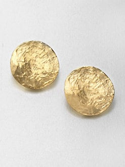 Kenneth Jay Lane - Textured Clip-On Button Earrings