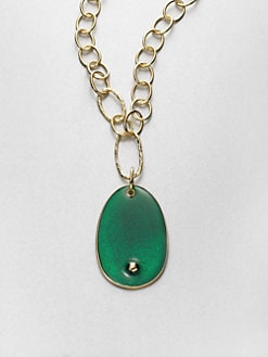 Kenneth Jay Lane - Oval Pendant Necklace