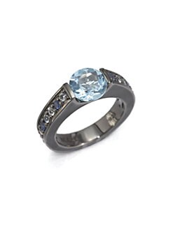 M.C.L by Matthew Campbell Laurenza - Blue Sapphire, Blue Topaz, White Topaz & Sterling Silver Ring