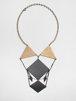 Bliss Lau - Voluptuous Mantle Geometric Bib Necklace