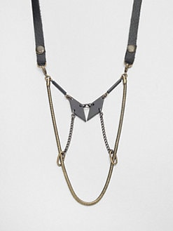Bliss Lau - Mixed-Media Bib Necklace