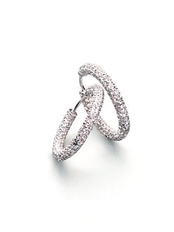 Adriana Orsini - Pave Hoop Earrings/1