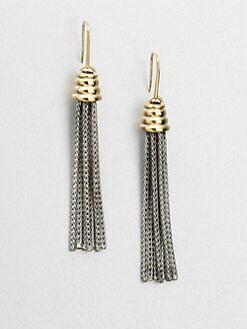 Elizabeth and James - Sterling Silver & 18K Gold Tassel Earrings