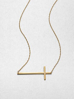Jennifer Zeuner Jewelry - Horizontal Cross Pendant Necklace