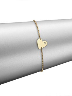 Golden Jennifer Zeuner Heart Charm Bracelet
