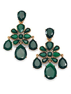 Oscar de la Renta - Crystal Cluster Clip-On Chandelier Earrings