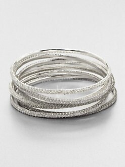 ABS by Allen Schwartz Jewelry - Tri-Tone Pavé Bangle Bracelet Set