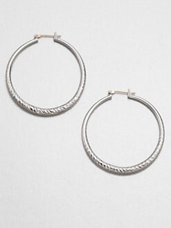 ABS by Allen Schwartz Jewelry - Textured Hoop Earrings