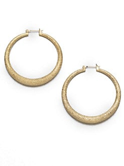 ABS by Allen Schwartz Jewelry - Sandblast Hoop Earrings
