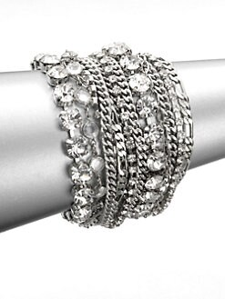 ABS by Allen Schwartz Jewelry - Multi-Row Link Chain Bracelet