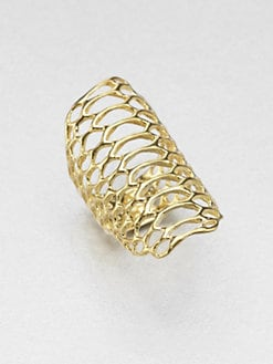 Elizabeth and James - Openwork Ring/18K Goldplated