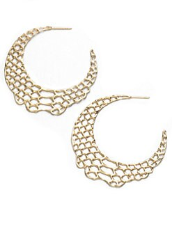 Elizabeth and James - Openwork Hoop Earrings/18K Goldplated