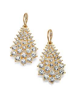 ABS by Allen Schwartz Jewelry - Cluster Teardrop Earrings