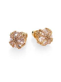 ABS by Allen Schwartz Jewelry - Chain Faceted Stud Earrings