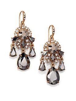 ABS by Allen Schwartz Jewelry - Faceted Chandelier Earrings