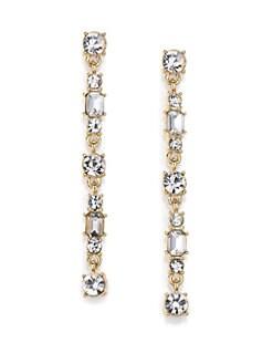 ABS by Allen Schwartz Jewelry - Linear Earrings/Goldtone
