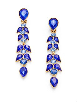 Oscar de la Renta - Crystal Wisteria Linear Earrings