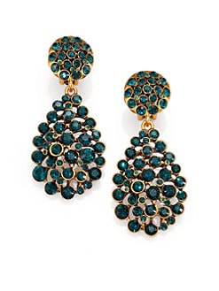 Oscar de la Renta - Pave Crystal Teardrop Earrings