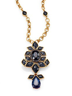 Oscar de la Renta - Jeweled Convertible Brooch & Pendant Necklace