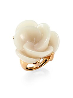 Oscar de la Renta - Swirl Flower Cocktail Ring