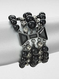 Marc by Marc Jacobs - Hemetite Multi-Row Bracelet
