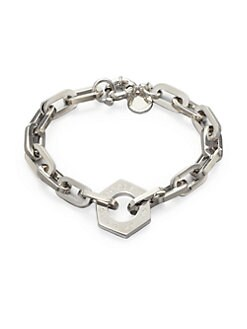 Marc by Marc Jacobs - Mini Link Nut Charm Bracelet/Silvertone