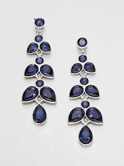 ABS by Allen Schwartz Jewelry - Leaf-Shaped Chandelier Earrings