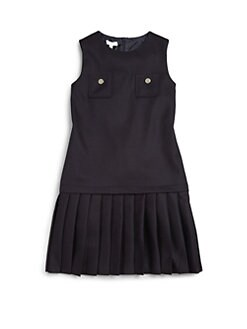 Gucci - Girl's Pleated Wool Dress