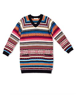 Gucci - Girl's Wool Fair Isle Sweater