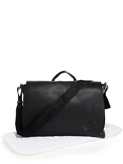 63bcc406675e Gucci Leather Messenger Diaper Bag
