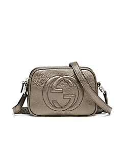 Gucci - Girl's Metallic Leather Mini Messenger Bag