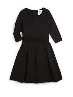 MILLY MINIS - Girl's Textured Knit Dress